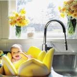 Baby Blooming Bath Toddler Kid Soft Bath Tube Shower Seat Infant Lotus Flower Intl Shop