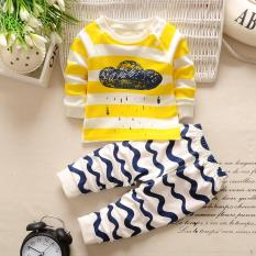 Retail Price Baby Boys Girls Pajamas Clothes Kids 2Pcs Clothing Set Intl