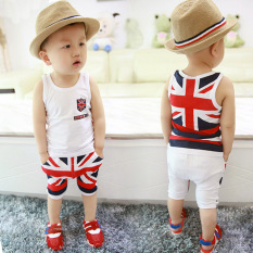 For Sale Baby Boys Uk Flag Pattern Clothing Set T Shirt Shorts 2Pcs Outfits Intl