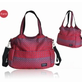 Retail Baby Changing Bag Diaper Nappy Bag Wipe Clean Waterproof Tote Shoulder Bags Red Intl