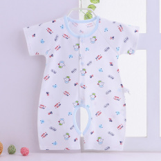 Sale Baby Coveralls For Men And Women Baby Summer Short Sleeved Sleeping Clothes Newborn Children 6 Romper 3 A Month 1 Year Old Summer 2