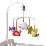 Best Price Baby Crib Mobile Bed Bell Toy Holder Arm Bracket 5 Dolls Wind Up Music Box Baby Hanging Toy Set Intl