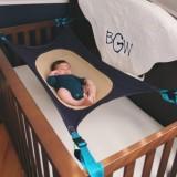 Review Baby Healthy Development Crib Hammock Holder Elastic Organizer Storage Tidy Toy Intl Hong Kong Sar China