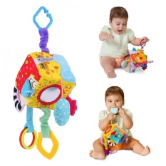 Baby Infant Cloth Block Clutch Cube Rattle Toy Musical Educational Colorful Toys - Intl By Highfly.