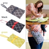 Best Reviews Of Baby Infant Portable Diaper Changing Pad Cover Mat Travel Foldable Nappy Bag Gray Intl