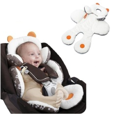 Best Reviews Of Baby Infant Safety Car Seat Stroller White Soft Cushion Pad Liner Mat Head Neck Body Support Pillow Intl