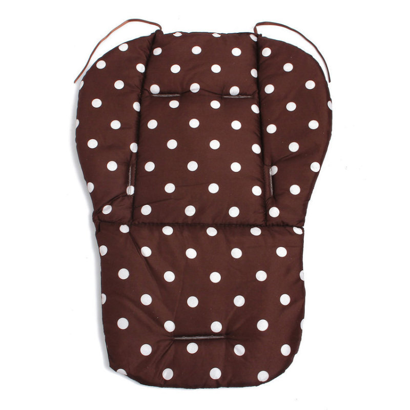 Baby Infant Thick Pushchair Mat Dot Liner Cover Stroller Buggy Pram Seat Cushion Brown -intl Singapore