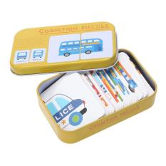 Baby Iron Box Cards Matching Game Educational Toy (multicolor) (vehicle) - Intl By Welcomehome.