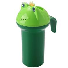 Baby Kids Cartoon Frog Style Bath Shower Water Rinse Cup Bathroom Hair Eye Shampoo Rinse Sprinkler Cup Green - Intl By Stoneky.