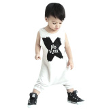 Price Comparison For Baby Letters Printing Romper Clothes Set White