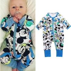 Price Comparison For Baby Lily Baby Boys Girls Cartoon Design One Pieces Bodysuits Intl