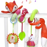 Baby Lovely Plush Fox Crib Spiral Toys Colorful Wrap Around Stroller Toy Baby Carriage Toy Style Fox Intl Lowest Price