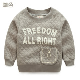 Low Price Baby Wt 6606 Korean New Style Children Lettered Pullover Top Hoodie