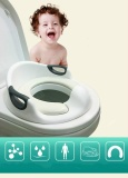 Baby Potty Chair Children Toilet Seat Comfortable Soft Toilet With Handle White Intl Sale