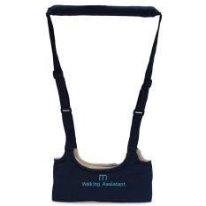 Baby Safe Walking Belt Learning Aid Assistant Toddler Kid Harness Adjustable Strap Wings Dark Blue -