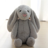 Retail Mimosifolia Baby Soft Plush Big Ear Rabbit To Appease The Doll Kids Birthday Present Plush Stuffed Animal Toys Lumbar Cushion Pillow Gray 38Cm Intl