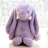 Low Cost Mimosifolia Baby Soft Plush Big Ear Rabbit To Appease The Doll Kids Birthday Present Plush Stuffed Animal Toys Lumbar Cushion Pillow Purple 38Cm Intl