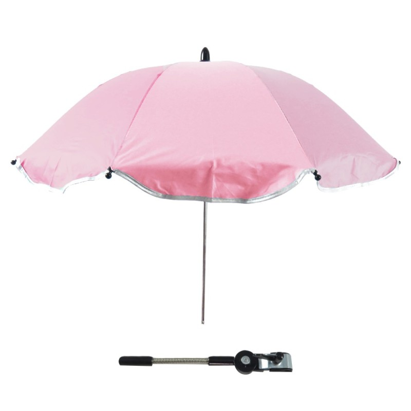 Baby Stroller Carriages UV Protection Umbrella Sunshade 360 Degrees Adjustable Direction Stroller Accessories for Most Baby Stroller Pink - intl Singapore
