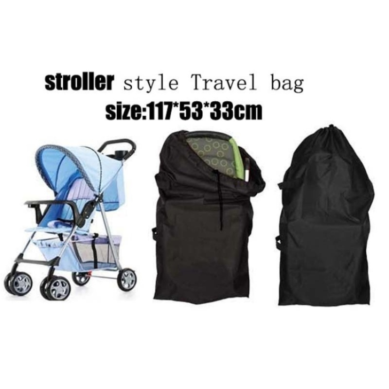 Baby stroller Covers baby stroller Travel bag Baby pram protection bag stroller accessories - B-(size:117 * 53 * 33cm) - intl Singapore