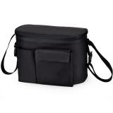 Promo Baby Stroller Organizer Mummy Diaper Storager Thermal Insulation Nappy Bag Black