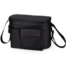 Sale Baby Stroller Organizer Mummy Diaper Storager Thermal Insulation Nappy Bag Black Oem Branded