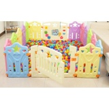 Price Comparison For Baby Toddler Children Plastic Play Yard Playyard With Activity Panel And Gate