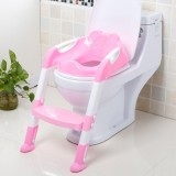 Wholesale Baby Toddler Potty Toilet Trainer Safety Seat Chair Step With Adjustable Ladder Infant Toilet Training Non Slip Folding Seat Intl