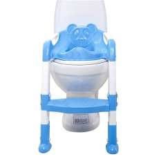 Best Price Baby Toddler Potty Training Toilet Chair Seat Step Ladder Blue Intl