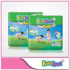 Babylove Daypants Plus Mega Pack L 62Pcs X 2 Packs On Singapore