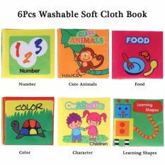 Babys First Non-Toxic Fabric Book 6pcs Washable Soft Cloth Book Early Education Intelligent Toy For Infant Toddler Kids Learning - Intl By Yw Store.