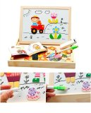 Bao Core Children S Wooden Magnetic Jigsaw Puzzle Game Toys Magnetic Stick Characters Scenery Puzzle Double Side Black And White Board Educational Toy Birthday Christmas Gift For Kids Toddlers Over 3 Years Old Farm Set Intl Best Buy