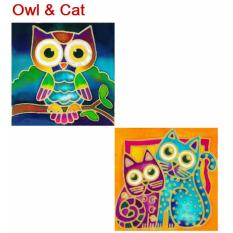 Batik Painting 2 In 1 Box Kit Owl Cat Shop