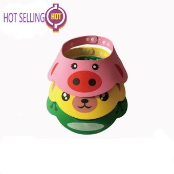 2be98b1259f Bear Baby Kids Shampoo Bath Bathing Shower Cap Hat Wash Hair Shield  Adjustable 192237522780 - intl