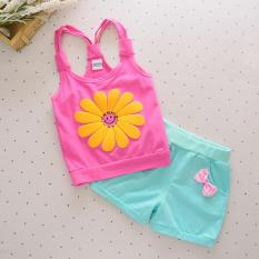 Where To Shop For Bear Fashion Baby Sun Flower Girls Clothing Kids Summer Clothes 2Pcs Set Intl