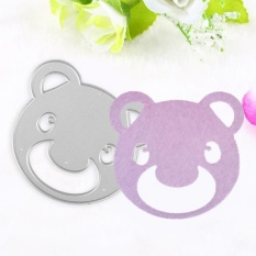Bear Head Shaped Metal Die Stencil Template For Diy Scrapbook Embossing Paper Card - Intl By Highfly.