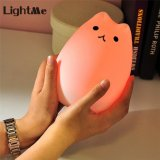Compare Prices For Best Gift Cute Kitty Led Children Night Light Kids Silicone Cat Lamp 7 Color Breathing Usb Rechargeable Lighting For Baby Room Bedroom Nursery Adults Intl