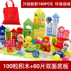 Sale Wooden G*rl S Early Childhood Toys Big Block Building Blocks Online On China