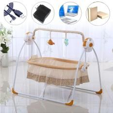 How To Buy Big Space Electric Baby Crib Cradle Infant Rocker Auto Swing Cot Baby Sleep Bed Intl