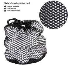 Black Nylon Mesh Drawstring Pouch Golf Balls Holder Storage Bag (m) - Intl By Highfly.
