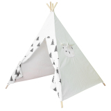Price Black Tree Printed Children Cotton Canvas Teepee With Four Poles Intl China