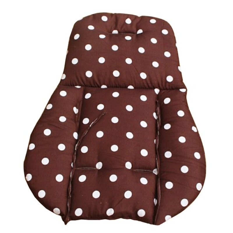 Bluelans® Thick Baby Infant Stroller Seat Pushchair Cushion Cotton Mat White Dot Coffee Singapore