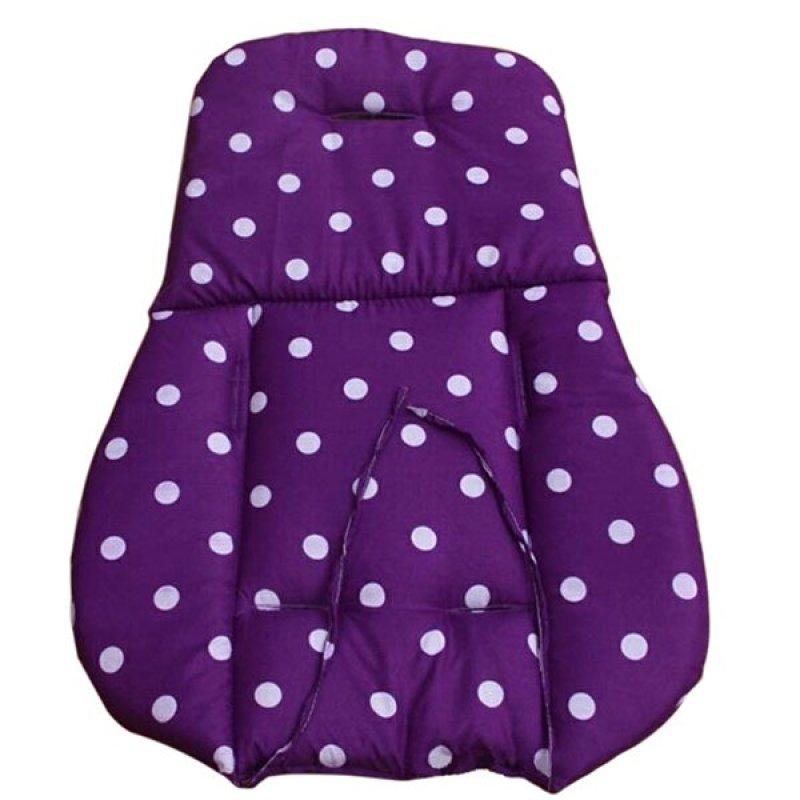 Bluelans® Thick Baby Infant Stroller Seat Pushchair Cushion Cotton Mat White Dot Purple Singapore