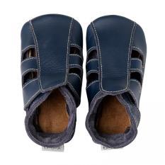 Sale Bobux Soft Sole Baby Leather Shoe Navy Sandals Bobux Cheap