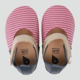 Get Cheap Bobux Soft Sole Baby Leather Shoe Sherbet White Stripe Mj