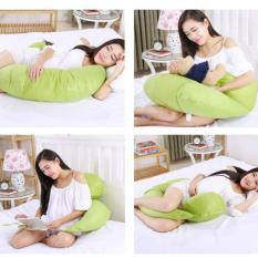 Sale Body Pregnancy Support Pillow Breastfeeding Cotton Maternity Pillow Twin Baby Infant Nursing Pillows Women Pregnant Sleep Green Haotom Online