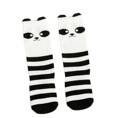 59ef617f7d74e BolehDeals Baby Kids Girls Animal High Socks Knee Tights Hosiery Stockings  Black&White - Intl