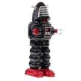 Sale Bolehdeals Retro Wind Up Clockwork Mechanical Walking Tin Mask Robot Toy Black Intl