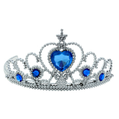Bridal Princess Birthday Prom Masquerade Heart-Shaped Rhinestone Hair Tiara Crown Headband(blue) By Stoneky.