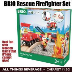 Price Brio Wooden Train Rescue Firefighter Set Online Singapore