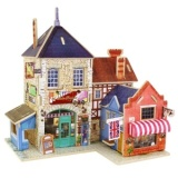 The Cheapest Building 3D Puzzle Jigsaw Wooden Toys Children S Educational Wooden Chalets Intl Online